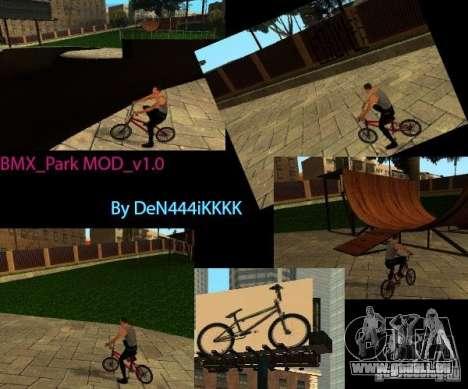 BMX_Park MOD_v 1.0 pour GTA San Andreas
