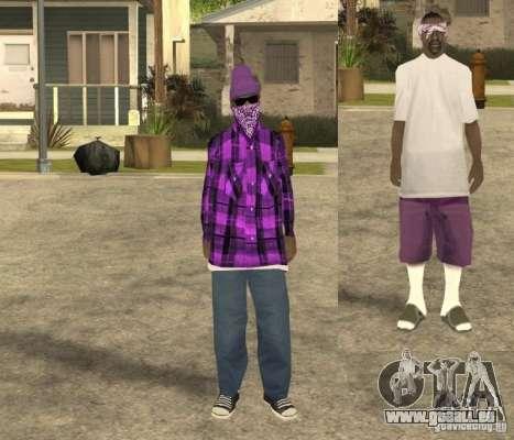 Skinpack Ballas für GTA San Andreas zweiten Screenshot