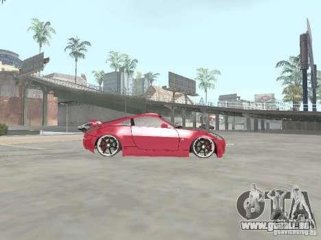 Nissan 350Z v2 pour GTA San Andreas laissé vue