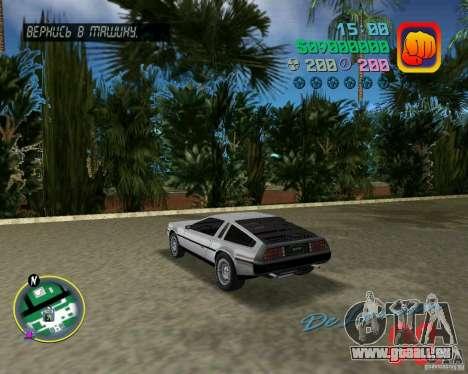 DeLorean DMC 12 pour une vue GTA Vice City de la droite