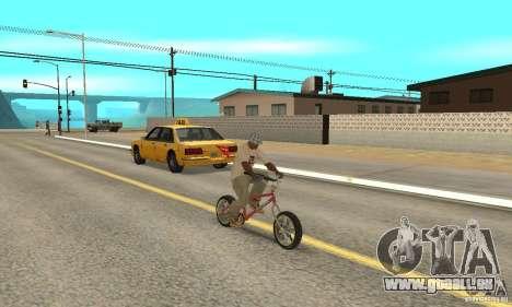 BMX Long 2 New Wheel pour GTA San Andreas vue de droite