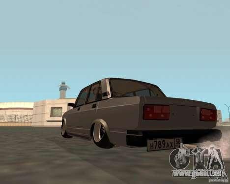 VAZ 2107 JDM pour GTA San Andreas laissé vue