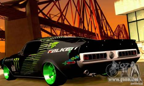 Shelby GT500 Monster Drift pour GTA San Andreas roue