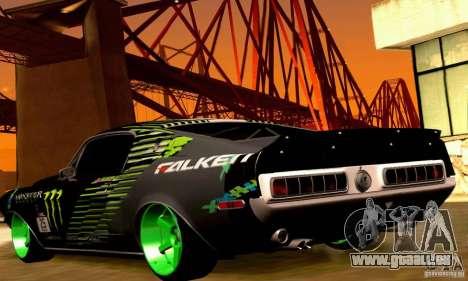 Shelby GT500 Monster Drift für GTA San Andreas Räder