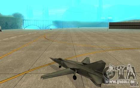 MIG-23 vers le bas le Flogger pour GTA San Andreas vue de droite