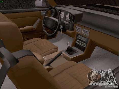 Ford Mustang GT 5.0 Convertible 1987 pour GTA San Andreas vue intérieure