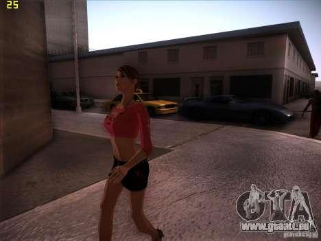 Skin Girl NFS PS für GTA San Andreas dritten Screenshot