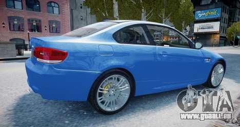 BMW M3 E92 2008 v.2.0 pour GTA 4 est une gauche
