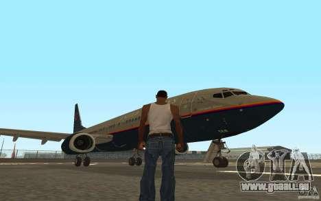 Boeing 737-800 für GTA San Andreas obere Ansicht