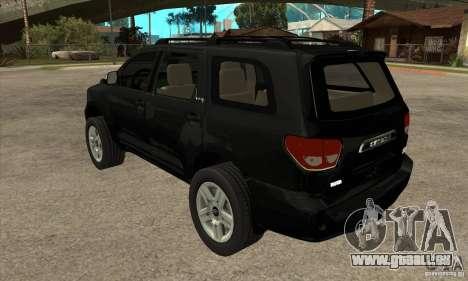 Toyota Sequoia pour GTA San Andreas sur la vue arrière gauche