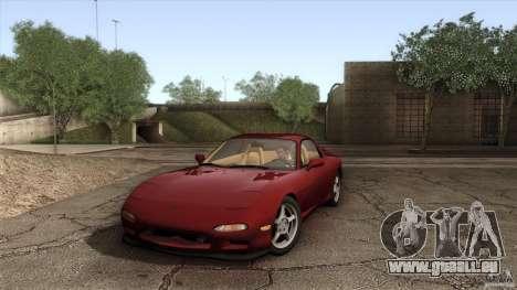 Mazda RX-7 FD 1991 pour GTA San Andreas vue de côté
