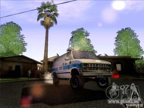 Chevrolet VAN G20 NYPD SWAT für GTA San Andreas Seitenansicht