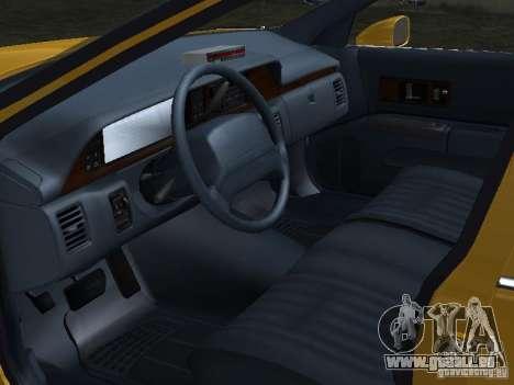 Chevrolet Caprice 1993 Taxi pour GTA San Andreas vue arrière