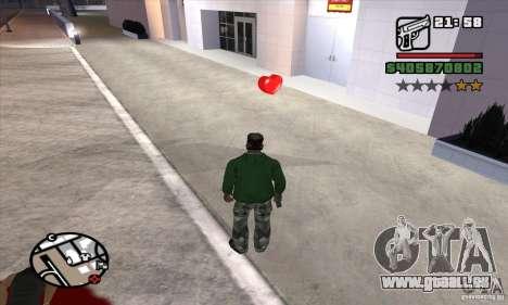 Trousses de premiers soins pour GTA San Andreas deuxième écran