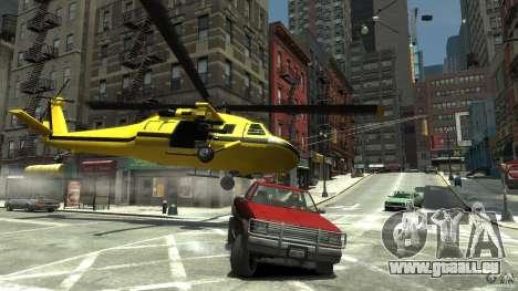 Yellow Annihilator pour GTA 4 vue de dessus