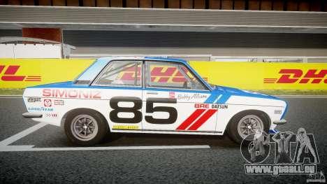 Datsun Bluebird 510 1971 BRE für GTA 4 Rückansicht