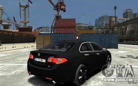 Acura TSX 2011 für GTA 4 rechte Ansicht