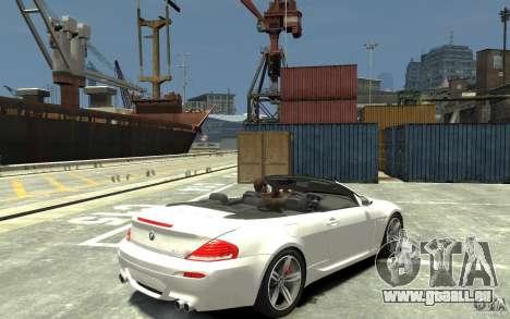 BMW M6 Convertible für GTA 4 rechte Ansicht
