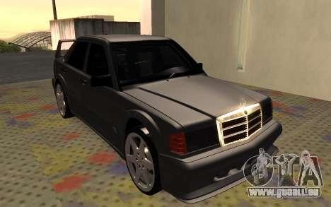 Mercedes-Benz 190E Evolution II 2.5 1990 pour GTA San Andreas laissé vue