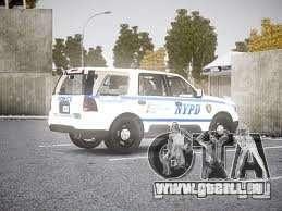 Ford Expedition Truck Enforcement pour GTA 4 Vue arrière