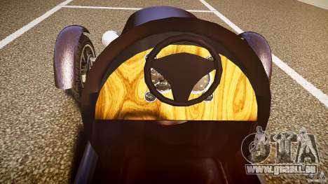 Vintage race car pour GTA 4 vue de dessus