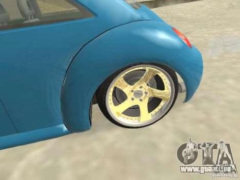 VW Beetle 2004 pour GTA San Andreas sur la vue arrière gauche