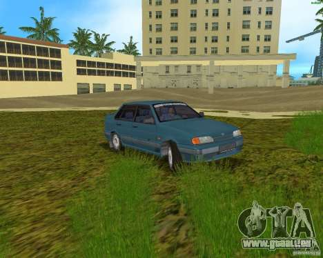 Lada 2115 pour GTA Vice City sur la vue arrière gauche