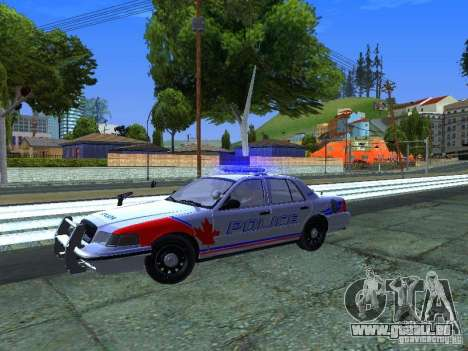 Ford Crown Victoria Police Patrol für GTA San Andreas Rückansicht