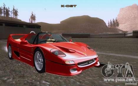 Ferrari F50 v1.0.0 1995 pour GTA San Andreas vue de côté