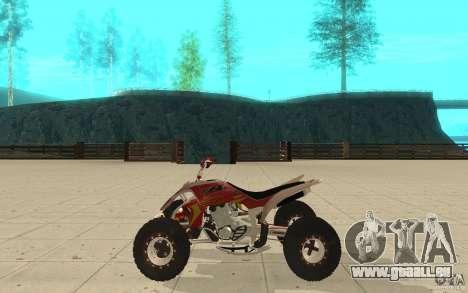 Yamaha YFZ 450 SuperCross Skin 2 für GTA San Andreas linke Ansicht