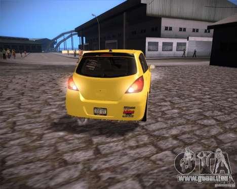Nissan Versa Tuned für GTA San Andreas rechten Ansicht