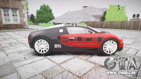 Bugatti Veyron 16.4 Police [EPM/ELS] pour GTA 4 est une vue de l'intérieur