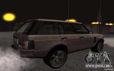Land Rover Supercharged für GTA San Andreas rechten Ansicht