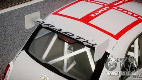 Fiat 500 Abarth pour GTA 4 est une vue de dessous