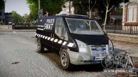 Ford Transit SWAT [ELS] pour GTA 4 est un droit