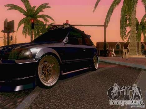 Honda Civic JDM Hatch für GTA San Andreas obere Ansicht