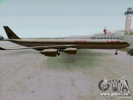 Airbus A-340-600 Quatar für GTA San Andreas linke Ansicht