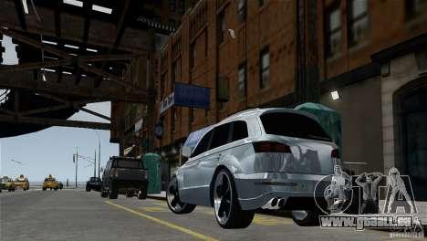 Audi Q7 pour GTA 4 Vue arrière de la gauche