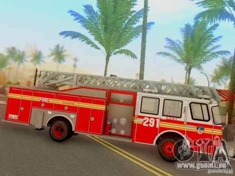 E-One FDNY Ladder 291 pour GTA San Andreas vue de droite