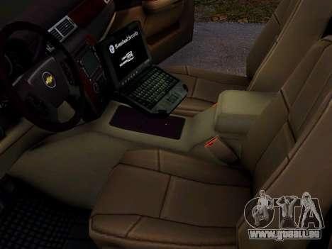 Chevrolet Tahoe Homeland Security pour GTA 4 Vue arrière