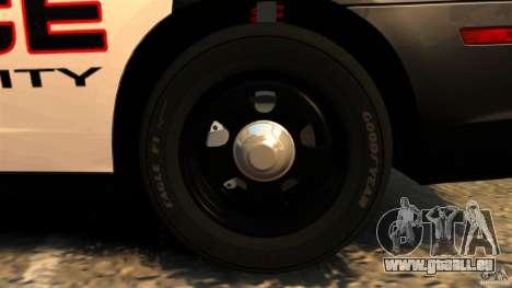 Dodge Charger RT Max Police 2011 [ELS] pour GTA 4 est une vue de dessous