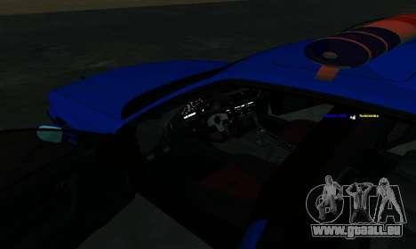 BMW M5 POLICE pour GTA San Andreas vue de dessus