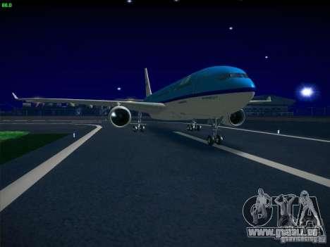 Airbus A330-200 KLM Royal Dutch Airlines pour GTA San Andreas sur la vue arrière gauche