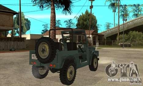 Suzuki Jimny pour GTA San Andreas vue de droite