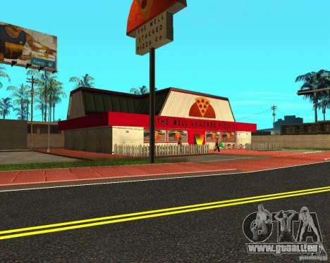 Achat de pizza pour GTA San Andreas deuxième écran