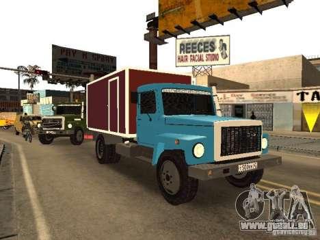 GAZ 3309 für GTA San Andreas obere Ansicht