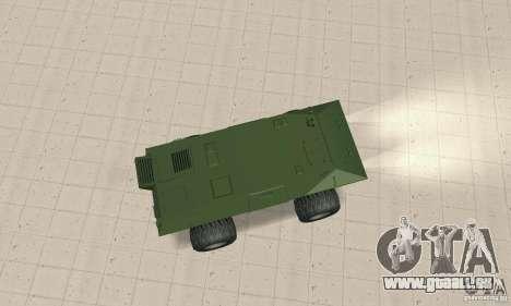 Trail Monster V.1.0 pour GTA San Andreas sur la vue arrière gauche