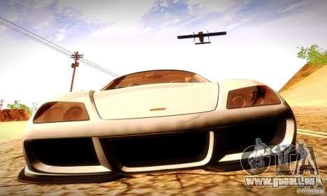 Noble M600 Final für GTA San Andreas Innenansicht