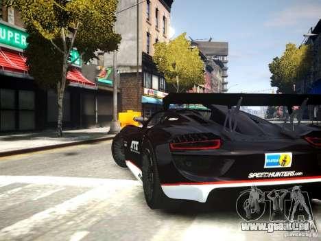 Porsche 918 Spider Body Kit Final pour GTA 4 est une gauche
