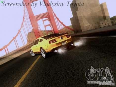 Ford Mustang GT 2011 pour GTA San Andreas vue de droite